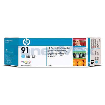 HP NO 91 INK LIGHT CYAN 775-ML